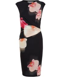 Coast Orchid Print Jersey Dress floral - Lyst