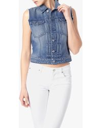 7 For All Mankind Denim Vest - Lyst