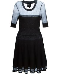 McQ by Alexander McQueen Flared Knitted Dress - Lyst