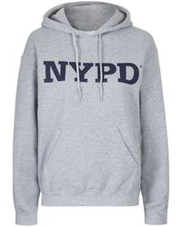 Topshop Nypd Hoodie By Tee & Cake gray - Lyst