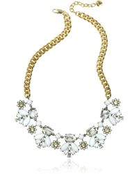 Juicy Couture Crystal And Golden Metal Necklace - Lyst