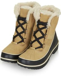 Topshop Tivoli Leather Boots by Sorel - Lyst