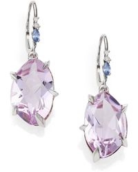 Alexis Bittar Fine - Cool Heather Marquis Amethyst, Sapphire, Diamond & Sterling Silver Drop Earrings - Lyst
