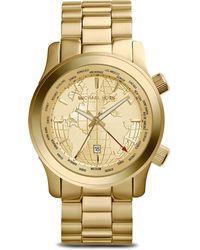 Michael Kors World Map Runway Watch 435mm - Lyst