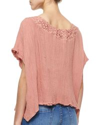 Golden by JPB - Hot Sauce Lace-Trim Top - Lyst
