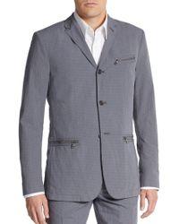 John Varvatos Regular-Fit Cotton Seersucker Blazer purple - Lyst