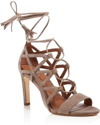 Elie Tahari - Hurricane Open Toe Lace Up Sandals - Lyst