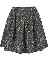 Sessun - Women'S Maya Printed Jacquard Mini Skirt - Lyst