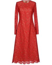 Michael Kors 3/4 Length Dress red - Lyst