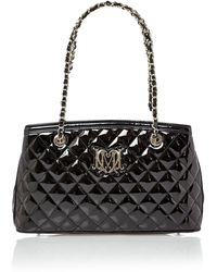 Love Moschino Black Exclusive Patent Quilt Medium Tote Bag - Lyst