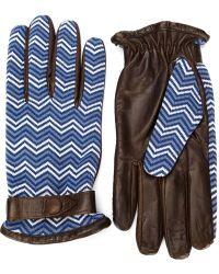 Orley | Chevron Pattern Gloves | Lyst