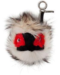 Fendi Fox mink rabbit Fur Monster Key Chain - Lyst