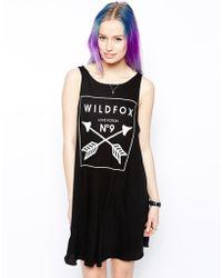 Wildfox Tank Dress with Heart Arrow Logo - Lyst