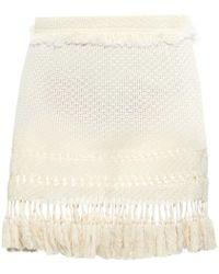 Isabel Marant Tifen Fringed Mini Skirt - Lyst