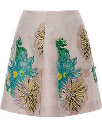 Blumarine Dahlia Embroidery Skirt - Lyst