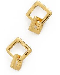 Gorjana Ryder Stud Earrings - Gold - Lyst