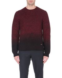 Burberry Dipdye Merino Wool Jumper Red - Lyst