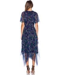 Marchesa Voyage - Printed Mesh Dress - Lyst
