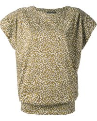 Labour Of Love Leopard Mini Sweater Dress - Lyst