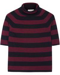 Burberry Brit Evl Short Sleeve Striped Jumper - Lyst