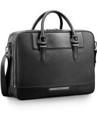 Calvin Klein White Label Peter Faux Leather Computer Commuter Briefcase black - Lyst