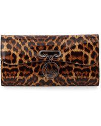 Christian Louboutin Riviera Leopard-print Clutch Bag - Lyst