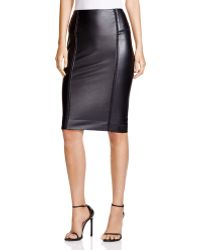 Lyssé - Faux Leather Pencil Skirt - Lyst