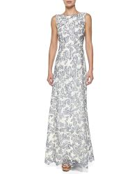 Tory Burch Skye Embroidered Gown - Lyst