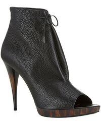 Burberry Jenkin Peep Toe Ankle Boots - Lyst