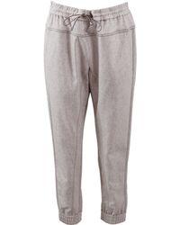 Brunello Cucinelli Tweed Jogging Pant gray - Lyst