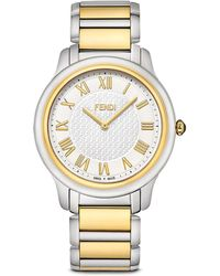 Fendi Large Two Tone Classico Watch, 40Mm - Lyst