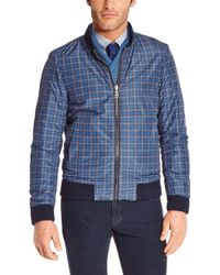 Hugo Boss T-chaiz  Reversible Virgin Wool and Nylon Jacket with Detachable Collar - Lyst