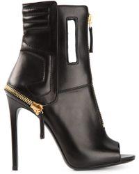 Gianmarco Lorenzi Open Toe Ankle Boots - Lyst