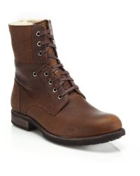 Ugg | Larus Wool-lined Leather Boots | Lyst