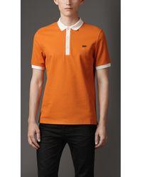 Burberry Mercerised Cotton Polo Shirt - Lyst