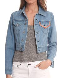 Être Cécile Native New Yorker Cropped Jacket blue - Lyst