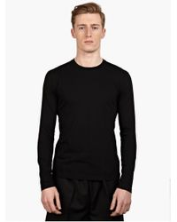 Jil Sander Men'S Black Long-Sleeved Cotton T-Shirt - Lyst
