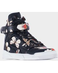 "Givenchy Leather High-Top Sneakers ""Tyson"" Magnolia Print multicolor - Lyst"