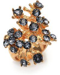 Alexander McQueen Cherry Blossom Ring gold - Lyst
