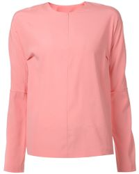 Zero + Maria Cornejo Pink Basic Blouse - Lyst