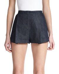 Giamba Tailored Denim Shorts - Lyst