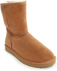 Ugg Classic Beige Boots In Suede M - Lyst