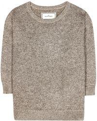 By Malene Birger Lulux Metallic Knit Sweater - Lyst