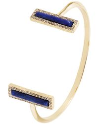 House Of Harlow 1960 Crystal And Pave Accented Bangle Bracelet - Lyst