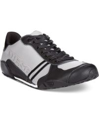 Diesel Harold Solar Patent Leather Sneakers - Lyst