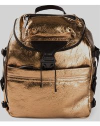 Alexander McQueen Gold Chunky Backpack - Lyst