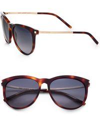 Saint Laurent Round Acetate Sunglasses - Lyst