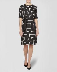 Jaeger Zig Zag Print Dress - Lyst