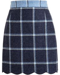 House Of Holland Tweed Mini Skirt - Lyst