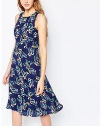 Sugarhill - Ugarhill Boutique Tropical Bird Midi Dress - Lyst